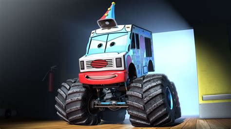 disney monster truck videos monster truck mater debuts and cars toon dvd blu ray