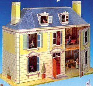 model doll houses kids quot r quot us collection paper model doll house toy b1