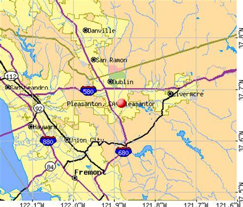 pleasanton california map pleasanton california ca 94566 profile population