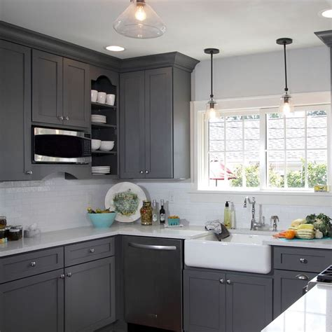 painted grey kitchen cabinets 25 best ideas about gray kitchen cabinets on pinterest