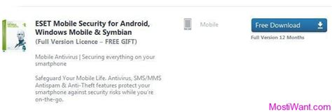 eset mobile full version eset mobile security free 1 year full version activation