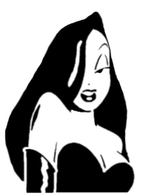 jessica rabbit clipart jessica stencil by dianna7 on deviantart