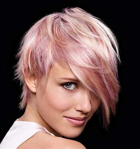 two toned asymetric bobs pintrest 20 good pink pixie cuts short hairstyles haircuts 2017