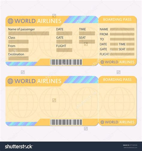 boarding pass template for word word ticket templates template concert free airline blank