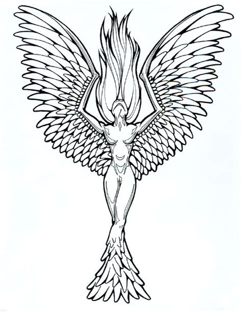 feminine phoenix tattoo designs designs 04 the collectioner