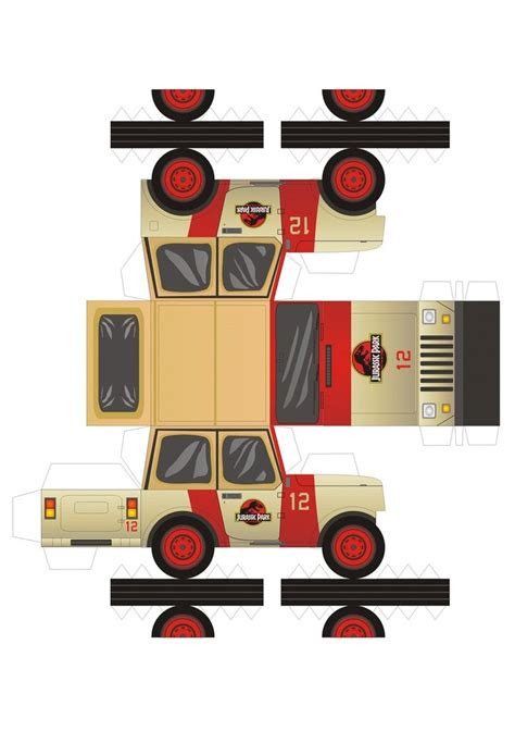 Papercraft Jeep - jeep wrangler of jurassic park by pauloomarcio on deviantart