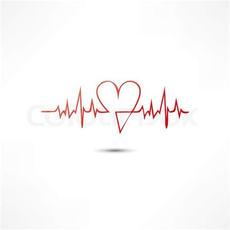 cardiogram icon stock vector colourbox