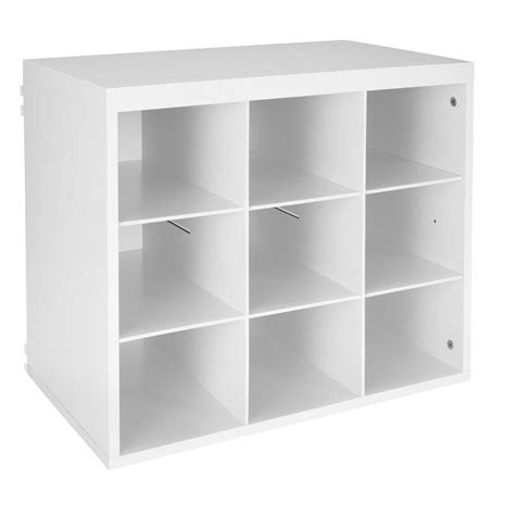closetmaid elite 19 3 4 in white 9 slot organizer 3277