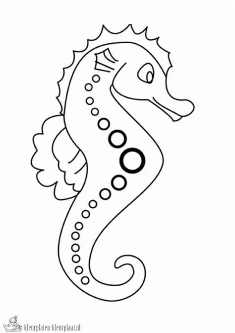 cutting horse coloring page kleurplaten zeepaardje kleurplaten kleurplaat nl
