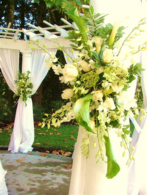 Outdoor Flower Decorations by Custom Wedding Decor Decoratively Speaking Events