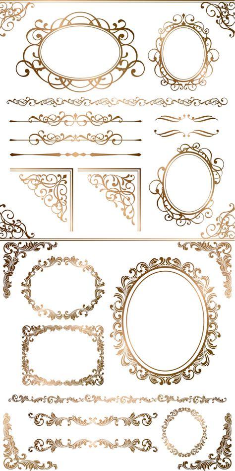 pattern frame vector free download これはエレガント ビンテージなコーナー飾り枠いろいろ ai eps free style