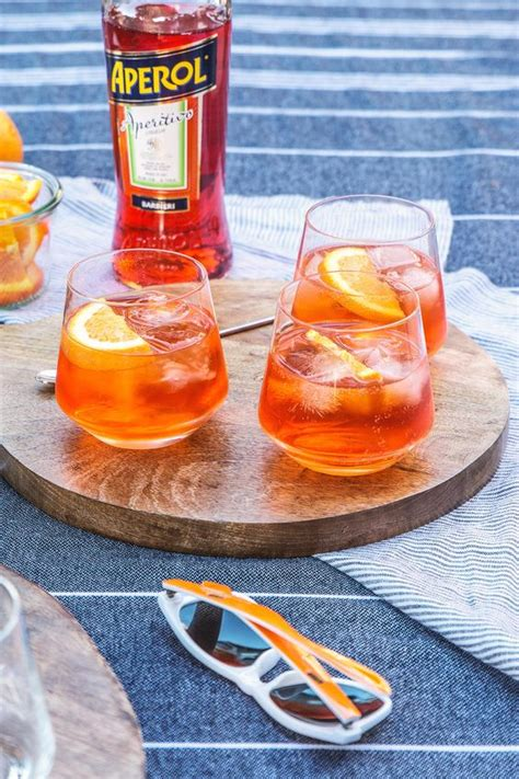 Munson Detox by Aperol Spritz Summer Glasses And Orange Slices