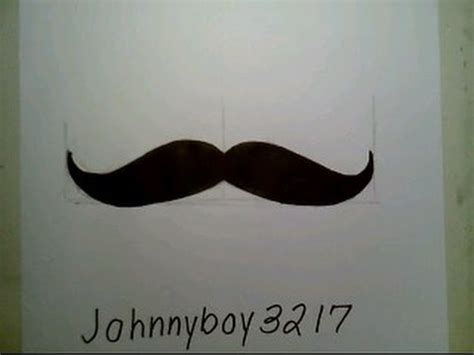 How To Make A Paper Moustache - how to draw a mustache easy como dibujar un bigote