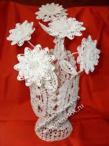 цветы связанные с крючком схема