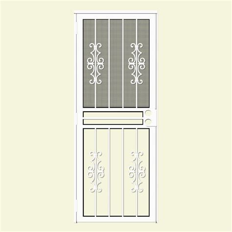 all season door and glass unique home designs 30 in x 80 in watchman duo white