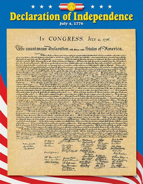 printable version of declaration of independence chart declaration of independence t 38254
