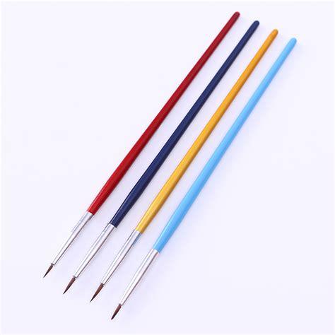 nail art needle pen tutorial 4pcs set nail art paint brush kit liner drawing pen