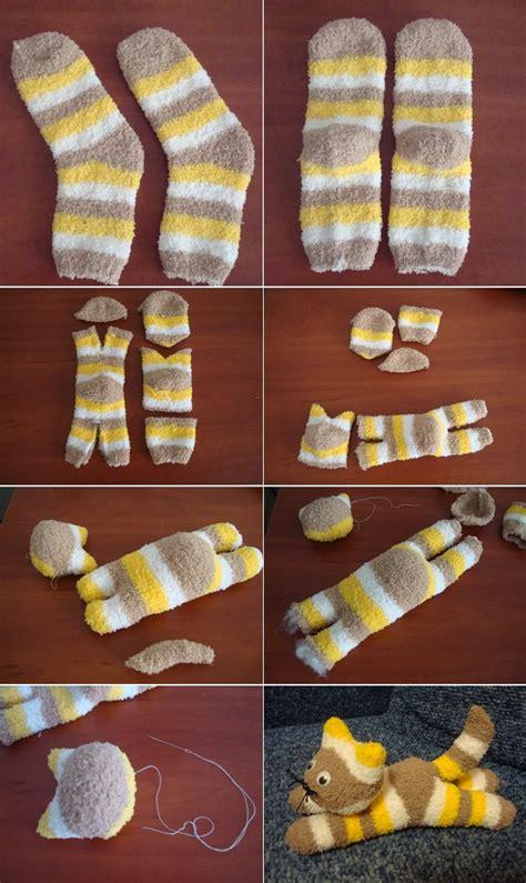 socks diy diy sock kitten icreatived