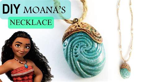 moana boat necklace diy moana heart of te fiti necklace polymer clay