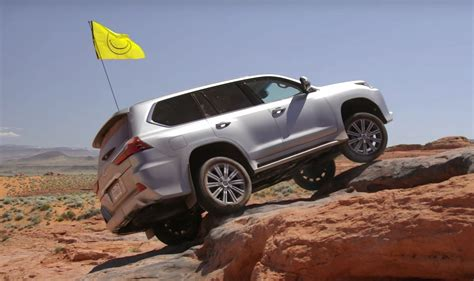 lifted lexus lx 570 2016 lexus lx 570 gets off road scars while doing jeep