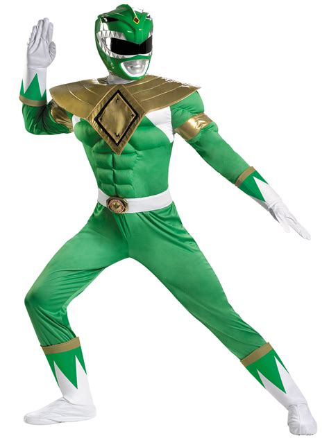 Home Decor Southaven Men S Power Rangers Green Ranger Classic Muscle Halloween