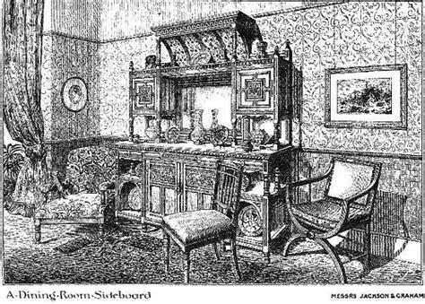 aesthetic movement  dining room victorian interior