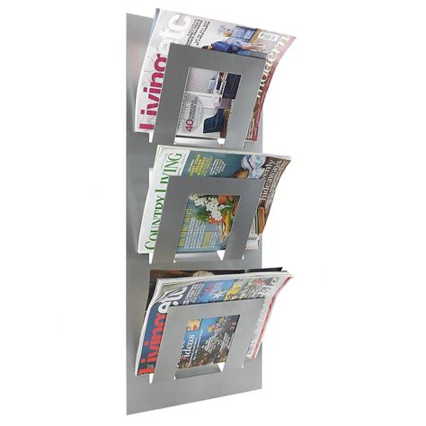 Magazine Wall Racks by Wall Mounted Three Tier Magazine Rack By The Metal House