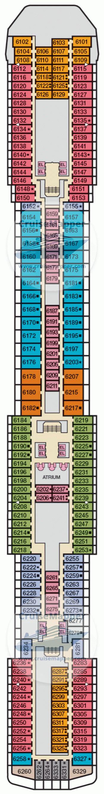 carnival pride floor plan carnival pride deck 6 plan cruisemapper