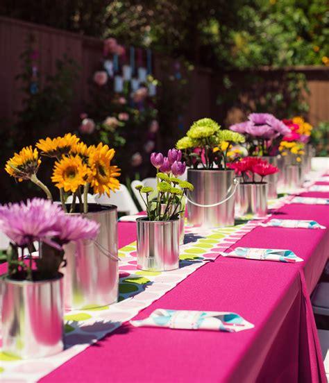 birthday centerpieces ideas for adults polka dot rainbow paint themed birthday hostess