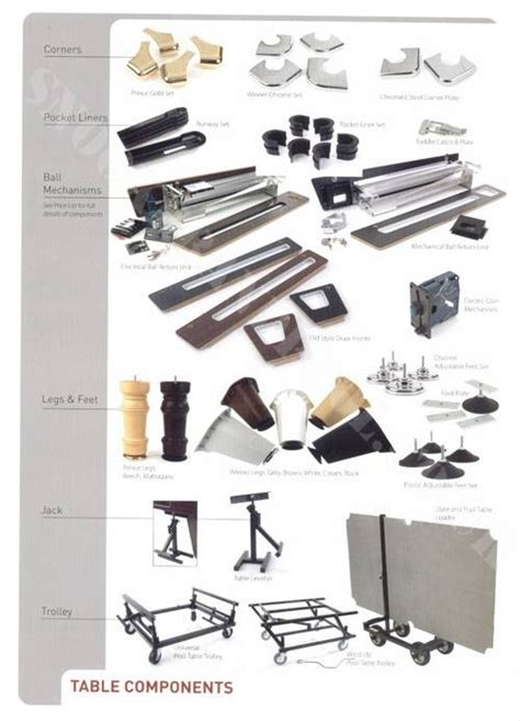 parts of a pool table supreme pool table parts