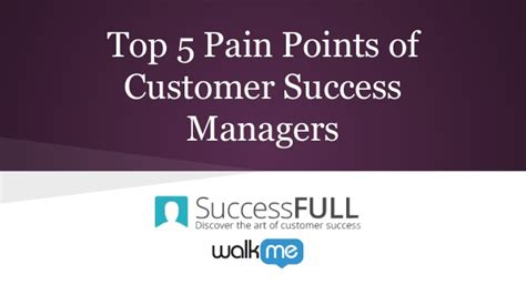top 5 points of customer success managers