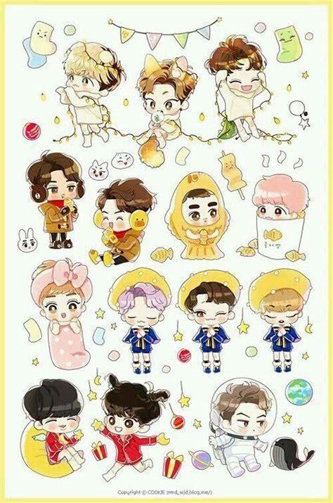 exo doodle wallpaper pin by elif tigli on exo chibi pinterest exo bts and kpop