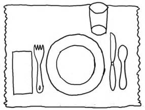 placemat make first day or at open house so that it can