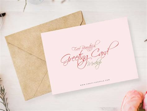 card envelope beautiful greeting card envelope psd mockup psd mockups