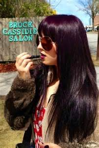 black with purple colour in their hair 1000 ideas about dark purple hair on pinterest dark