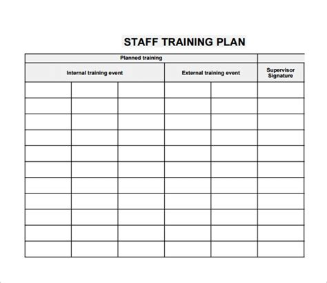 employee training plan template peerpex
