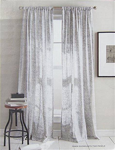 white and silver curtains dkny set of 2 extra long window curtains panels 50 by 96