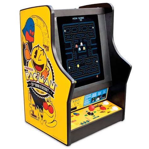 Pacman Table by The Authentic Pac Tabletop Hammacher Schlemmer