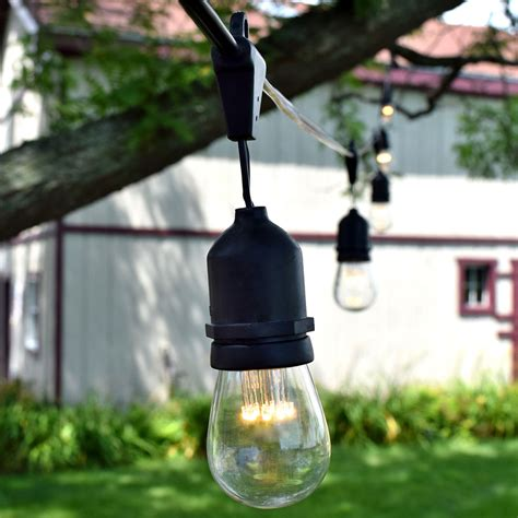 led patio lights string led suspended vintage string lights