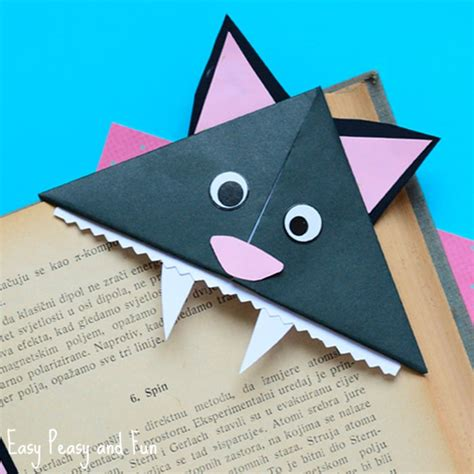 Origami Cat Bookmark - origami for easy peasy and