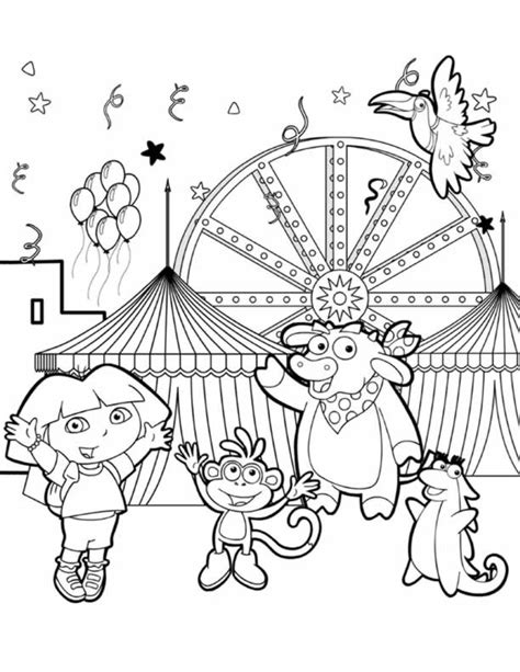 coloring pages dora and friends into the city printable coloring pages dora and friends into the city