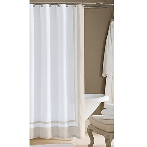 wamsutta shower curtain wamsutta hotel white beige fabric shower curtain tradition