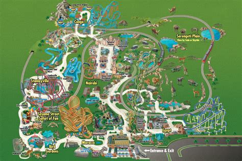 busch gardens map the thrills busch gardens ta