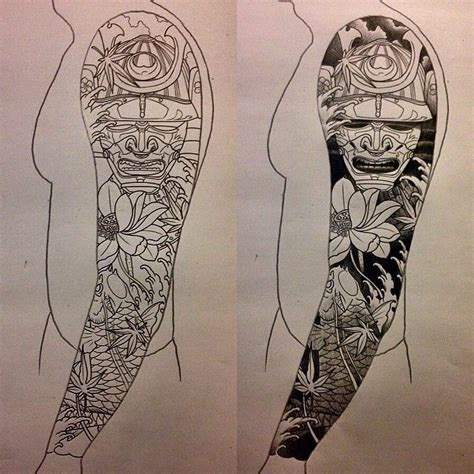 how to design your tattoo sleeve i like horimono sketch for a japanese sleeve