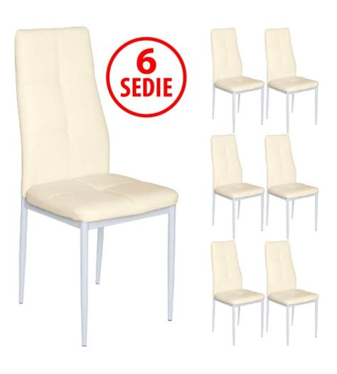 sedie imbottite moderne set 6 sedie in ecopelle imbottite moderne beige