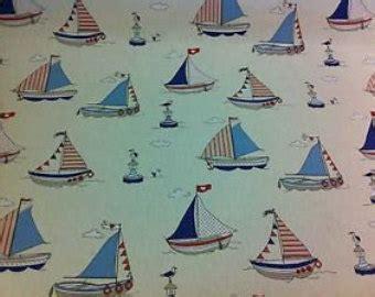 sailboat upholstery fabric sail boat fabric etsy