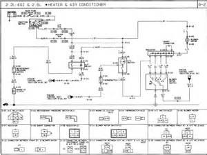 1991 mazda b2600i wiring diagram ac heat air conditioning fan motor compressor clutch switch