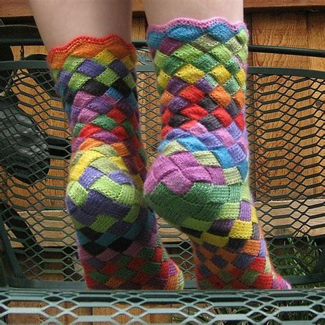 diy rainbow knitted socks tutorial rainbow patch knitted socks idea diy alldaychic