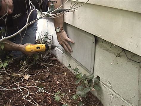 sealing crawl space vents with our covers foundation