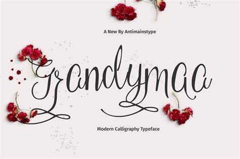 Wedding Fonts Opentype by Grandymaa Free Calligraphy Font Free Fonts